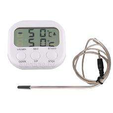 Термометр с таймером, щупом и сигнализацией